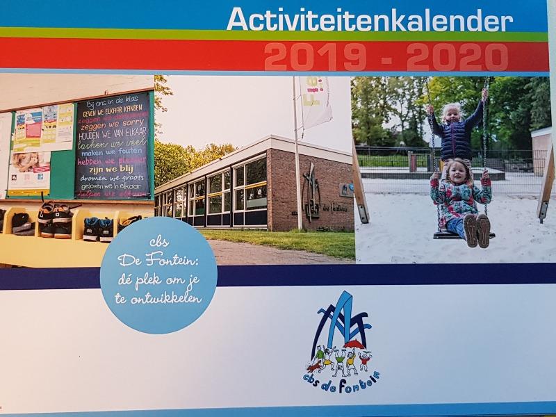 foto schoolkalender 2019/2020