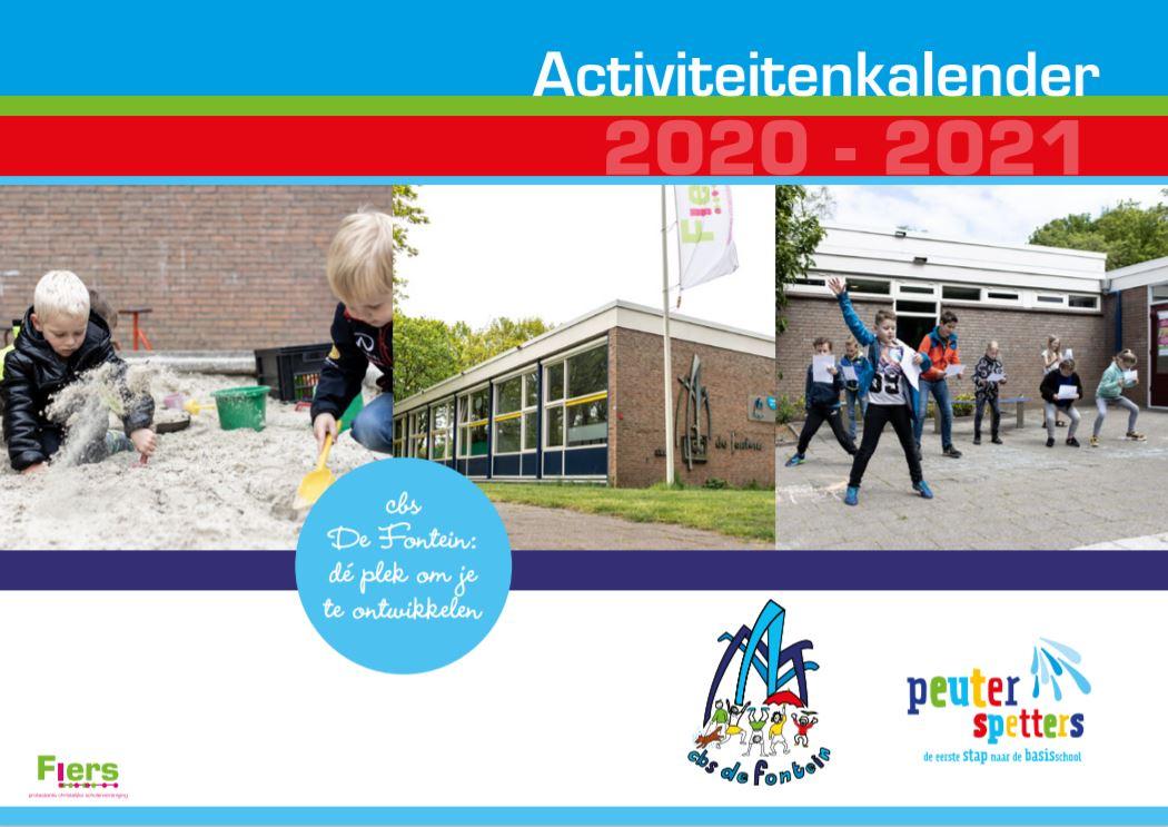 voorkant activiteitenkalender 2020-2021