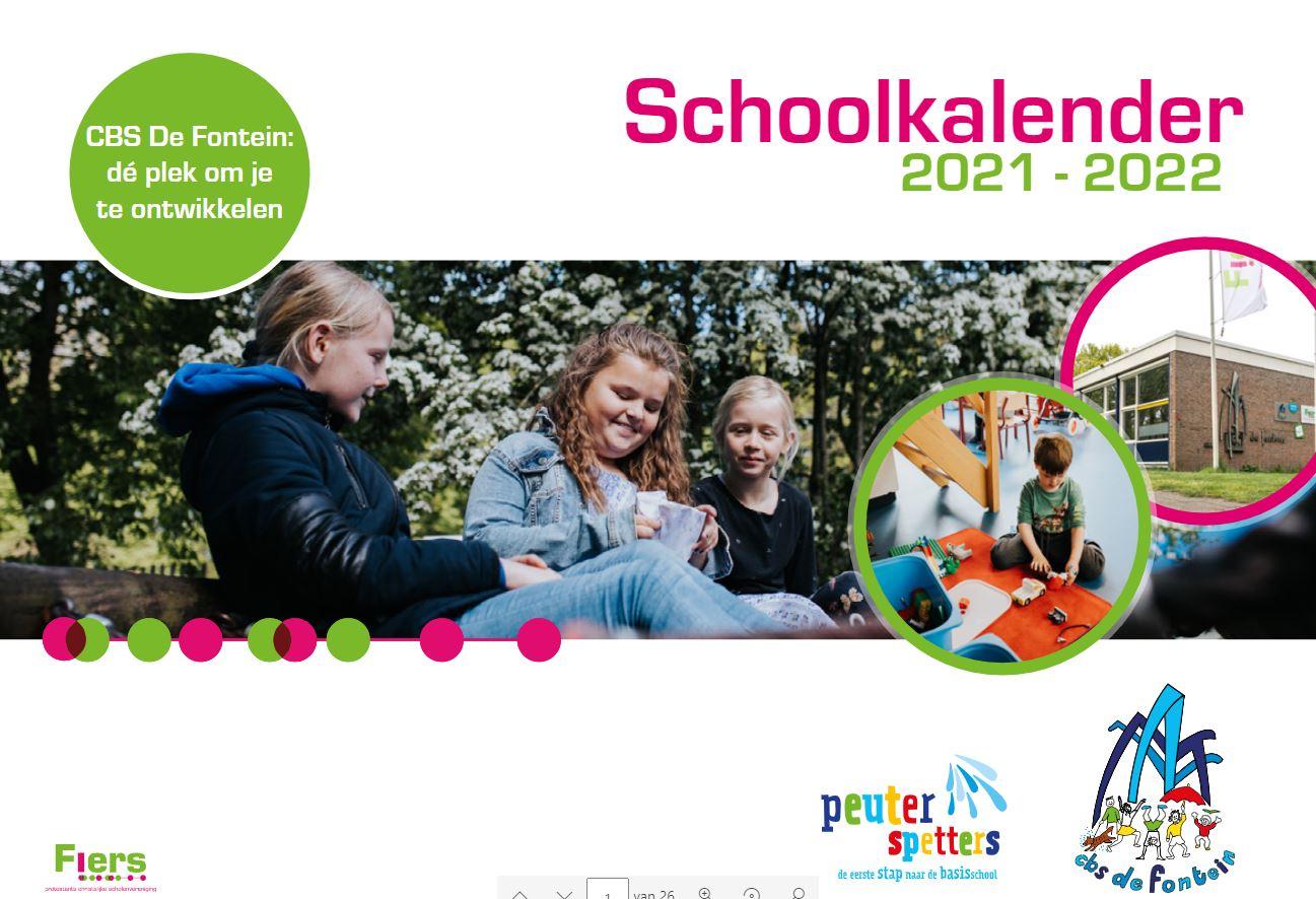 Schoolkalender 2021-2022